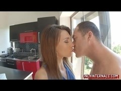 Alexis Brill sucked bigcock and gets her teen pussy fucked