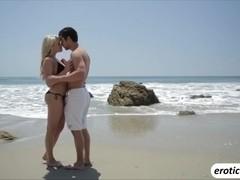 Hot babe Mia Malkova gives a sweet blowjob and gets fucked passionately