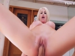 Blonde MILF gets a new cock