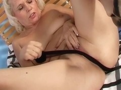 Mature Blonde Pleasuring Herself