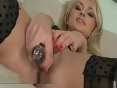 Ivana Sugar Anal Blonde Dildo Masturbation Stockings
