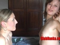 Two gorgeous horny MILFs licking each other's pussy