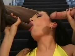 British slut Sabrina Johnson in a Fmm threesome