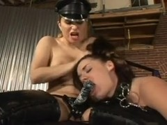 Busty hotties in kinky lesbian BDSM game