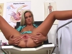 Nurse Katya shows her womb