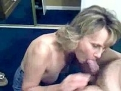 Blonde MILF Sucks