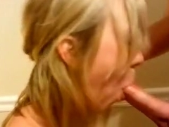Revenge Girlfriend swallows cum and receives facial