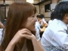 ###y ###ary blows workmates cock in public restaurant