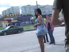 Just the lustful outdoor upskirt on movie scene