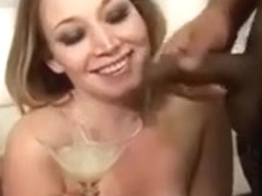 This Babe Likes drink a lot of cum - two