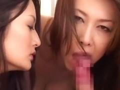 Best Japanese whore Maki Houjo, Yumi Kazama, Risa Murakami in Horny Blowjob, POV JAV video