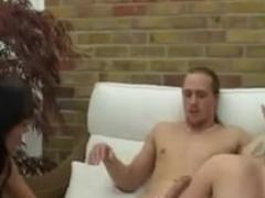 British floozy Michelle B in some other FFM 3some