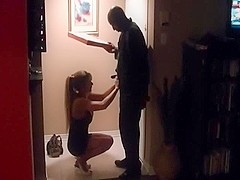 Astounding redhead wife with her darksome dude