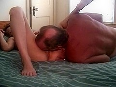 Aged married pair homemade sextape