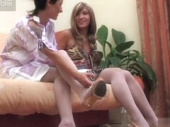 LacyNylons Movie: Subrina and Sheila