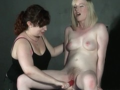 Extraordinary lesbo excercises and femdom flogging of Satine