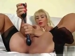 Blonde Bitch Masturbating