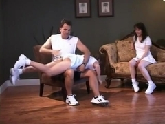 2 Tennis chicks get spanked, part 1