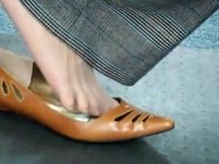 milf nylon shoeplay
