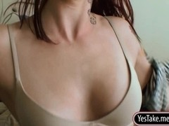 Tattooed amateur redhead gf Lilian first anal experience