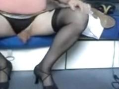 Rosi in black stockings