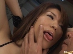 Megu Hayasaka gets a vibratorin her ass and a creampie in her pussy.