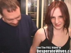 Thin Red Head Wife Pounded by Dirty D