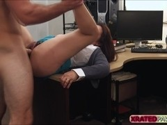 Busty Milf Fucked inside the pawn shop office while she is selling her collection