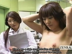 Subtitled CMNF ENF Japanese medical sniffing inspection