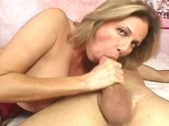 gorgeous mature sucks and fucks a cock