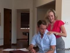 Hot Mom Gives Sensual Massage And Handjob