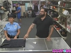 Busty security getting fucked hard