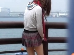 There's no other way around this clever skirt sharking prank