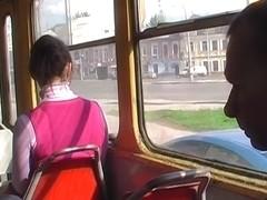 Hawt public upskirting at the tram stop