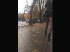 miniskirt and stocking
