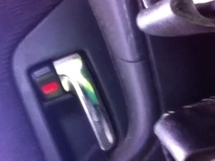 Mastubating in car