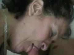 Grandma working for the spunk flow in Vegas room
