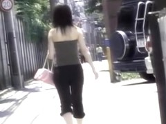 Smooth Asian vixen in really wild street sharking video