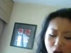 New Petite Chinese Girl not Watching Game