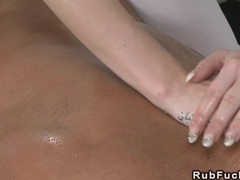 Masseuse fucked by muscled guy european fetish