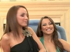 Best pornstars Celeste Star, Charlie Laine and Karlie Montana in horny masturbation, lesbian porn movie