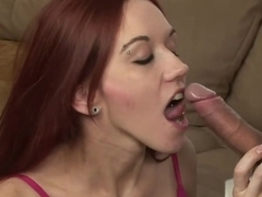 Fabulous pornstar Smokie Flame in horny facial, redhead adult video