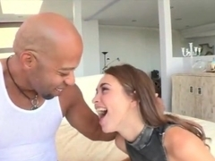 Beautiful teen girl Riley Reid fucked with big black cock