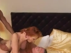 Smoking hot German redhead in DP action