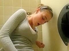 teen masturbating on school toilet