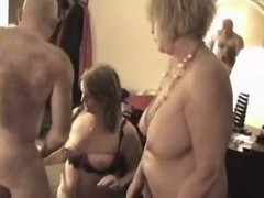 Curvy older 3some with hotel manager