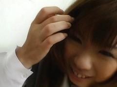 Slutty schoolgirl babe Misa Kurita gets her gaping puss