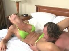 Sexy Karina Shay in bikini caught Hunter's attention at the beach