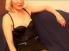 French golden-haired older wife dream to make porn clip