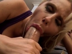 The hot and sexy mom of Keiran best friend's sucks his dick